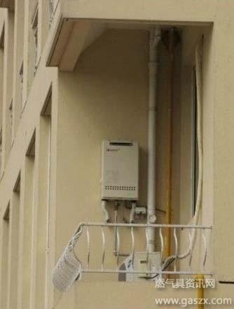 能率燃气热水器安装示意图