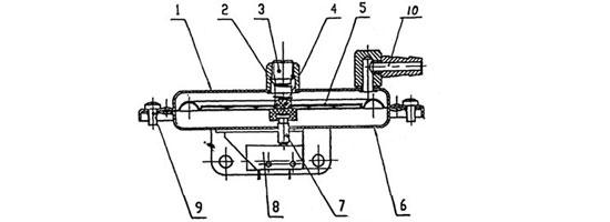 燃气热水器风压开关结构简图