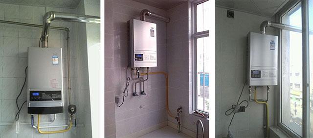 燃气热水器标准安装案例